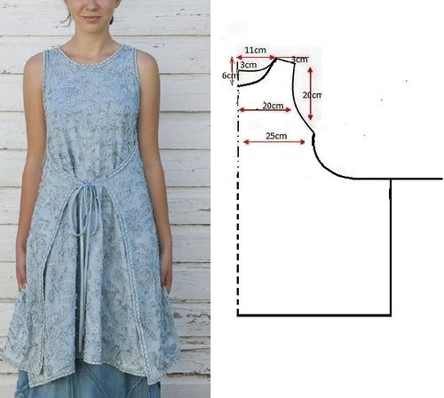как сшить простое платье фото и выкройка