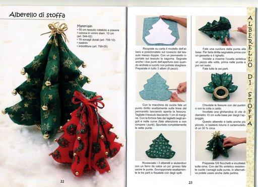 Как сделать елку из ткани своими руками